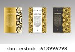 decorative covers of books.... | Shutterstock .eps vector #613996298