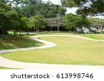 beautiful park in okinawa | Shutterstock . vector #613998746