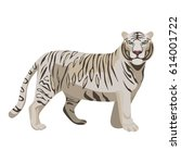 white or bleached tiger... | Shutterstock .eps vector #614001722