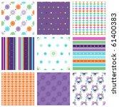 vector set of nine colorful... | Shutterstock .eps vector #61400383