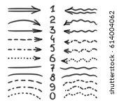 marker hand written doodle... | Shutterstock . vector #614004062