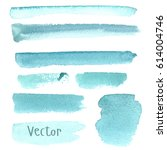 set of watercolor stain. spots... | Shutterstock .eps vector #614004746