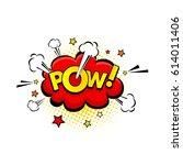 comic speech bubble with... | Shutterstock .eps vector #614011406