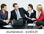 four confident professionals... | Shutterstock . vector #6140125