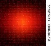 red binary computer code... | Shutterstock .eps vector #614015102