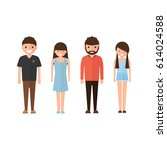 set of style young people. in... | Shutterstock .eps vector #614024588