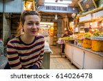 Handsome Girl Tourist In...