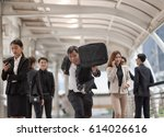 photo of energetic business... | Shutterstock . vector #614026616