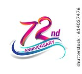 72nd anniversary celebration... | Shutterstock .eps vector #614037476