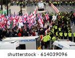 london  uk. 1st april 2017.... | Shutterstock . vector #614039096