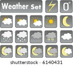 weather icons | Shutterstock .eps vector #6140431