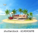 the concept of vacation. rest... | Shutterstock . vector #614043698