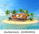 the concept of vacation. rest... | Shutterstock . vector #614044016
