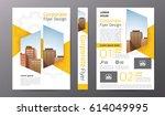 business brochure or flyer... | Shutterstock .eps vector #614049995