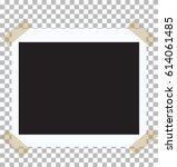 vintage photo frame with... | Shutterstock .eps vector #614061485