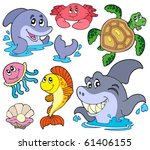 set of marine animals   vector... | Shutterstock .eps vector #61406155