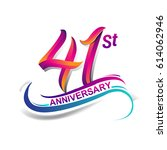 41st anniversary celebration... | Shutterstock .eps vector #614062946