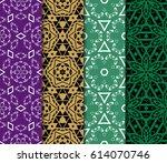 set of geometric pattern... | Shutterstock .eps vector #614070746