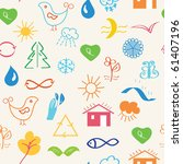 environmental seamless pattern... | Shutterstock .eps vector #61407196