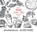 vector illustration sketch  ... | Shutterstock .eps vector #614073482