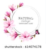 natural vintage greeting card... | Shutterstock .eps vector #614074178