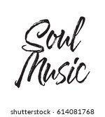 soul music  text design. vector ... | Shutterstock .eps vector #614081768