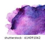 purple watercolor background... | Shutterstock . vector #614091062