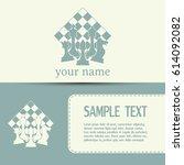 business cards design. chess... | Shutterstock .eps vector #614092082