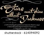 font handcrafted vector script... | Shutterstock .eps vector #614094092
