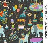 circus entertainment.... | Shutterstock .eps vector #614103422