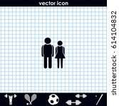 man and woman icon. | Shutterstock .eps vector #614104832