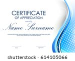 certificate of appreciation... | Shutterstock .eps vector #614105066