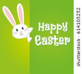 easter rabbit  easter bunny | Shutterstock .eps vector #614105252