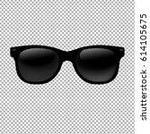 sunglasses in transparent... | Shutterstock . vector #614105675