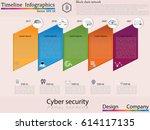 modern clean business circle... | Shutterstock .eps vector #614117135