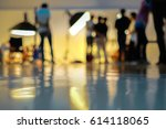 blurry image in studio working... | Shutterstock . vector #614118065