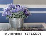 beautiful flowerpot on table | Shutterstock . vector #614132306