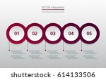 infographics step by step.... | Shutterstock .eps vector #614133506