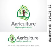 agriculture logo template  | Shutterstock .eps vector #614135432