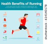 healthy fitness lifestyle... | Shutterstock .eps vector #614140178