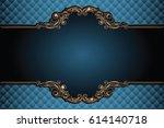vector luxury frame with border ... | Shutterstock .eps vector #614140718