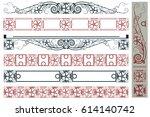 vector plant vignette for... | Shutterstock .eps vector #614140742
