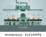 machine and manufacture... | Shutterstock .eps vector #614144996