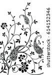 paisley indian motif | Shutterstock .eps vector #614152346