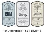 Set Of Vintage Bottle Label...