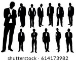 collection of business man... | Shutterstock .eps vector #614173982