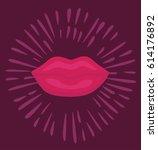 vector cartoon sticker...   Shutterstock .eps vector #614176892