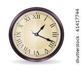 Vintage vector wall clock