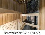 new infrared sauna.  | Shutterstock . vector #614178725
