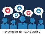 social sites user and their... | Shutterstock .eps vector #614180552